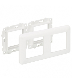 Suport z ramką K45 2×K45 czysta biel KR445/9
