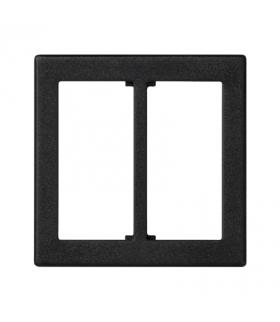 Plakietka przyłączeniowa K45 do złącza GESIS® podwójna 45×45mm szary grafit KB18/14