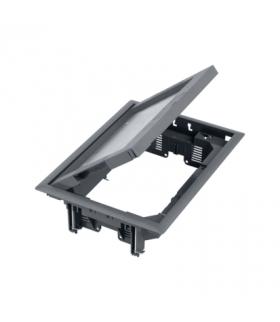 Puszka podłogowa FB prostokątna 8×K45 12mm szary FB24012/1