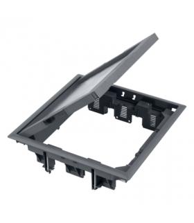 Puszka podłogowa FB kwadratowa 12×K45 12mm szary FB34012/1