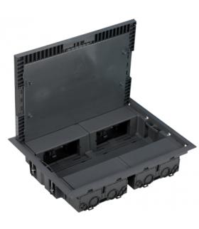 Puszka podłogowa KF prostokątna 8×K45 szary KF400/1