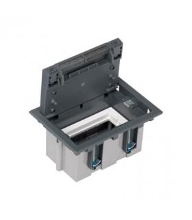 Puszka podłogowa SF prostokątna 2×K45 1×CIMA 93mm÷128mm szary SF110/1