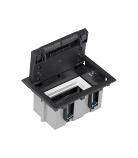 Puszka podłogowa SF prostokątna 2×K45 1×CIMA 93mm÷128mm szary grafit SF110/14