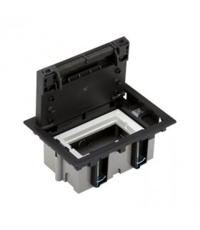 Puszka podłogowa SF prostokątna 2×K45 1×CIMA 70mm÷105mm szary grafit SF170/14