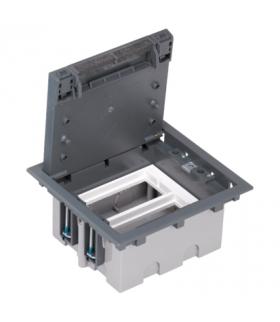 Puszka podłogowa SF prostokątna 4×K45 2×CIMA 93mm÷128mm szary SF210/1