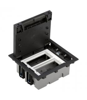 Puszka podłogowa SF prostokątna 4×K45 2×CIMA 70mm÷105mm szary grafit SF270/14