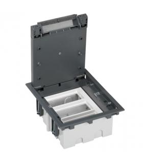 Puszka podłogowa SF prostokątna 6×K45 3×CIMA 93mm÷128mm szary SF310/1