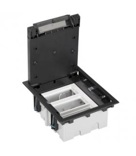 Puszka podłogowa SF prostokątna 6×K45 3×CIMA 93mm÷128mm szary grafit SF310/14