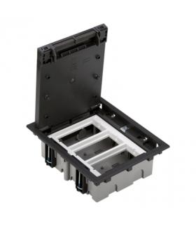 Puszka podłogowa SF prostokątna 6×K45 3×CIMA 70mm÷105mm szary grafit SF370/14