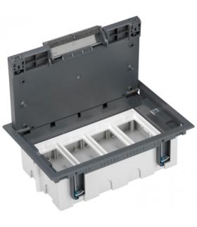 Puszka podłogowa SF prostokątna 8×K45 4×CIMA 93mm÷128mm szary SF410/1