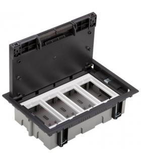 Puszka podłogowa SF prostokątna 8×K45 4×CIMA 70mm÷105mm szary grafit SF470/14
