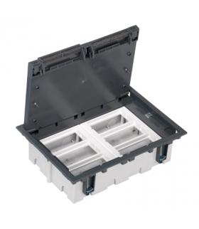 Puszka podłogowa SF prostokątna 12×K45 6×CIMA 93mm÷128mm szary SF610/1