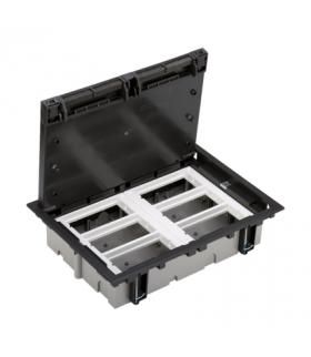 Puszka podłogowa SF prostokątna 12×K45 6×CIMA 70mm÷105mm szary grafit SF670/14