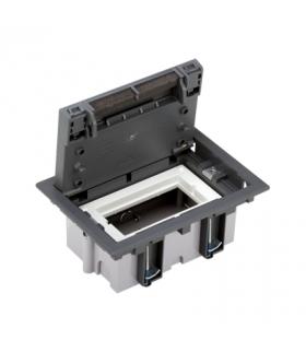 Puszka podłogowa SF prostokątna 2×K45 1×S500 70mm÷105mm szary 52050001-035