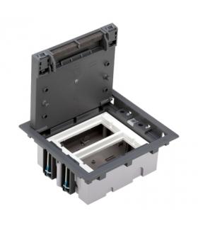 Puszka podłogowa SF prostokątna 4×K45 2×S500 70mm÷105mm szary 52050002-035