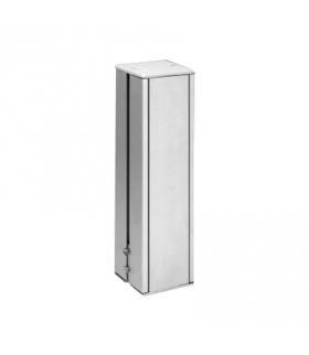Minikolumna dwustronna ALK kwadratowa 225mm 8×K45 aluminium ALK224/8