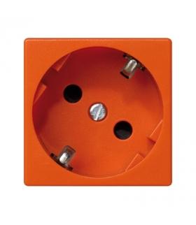 Gniazdo wtyczkowe pojedyncze K45 SCHUKO 16A 250V zaciski śrubowe 45×45mm pomarańczowy K01/7