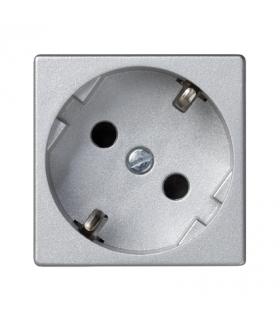 Gniazdo wtyczkowe pojedyncze K45 SCHUKO 16A 250V zaciski śrubowe 45×45mm aluminium K01/8