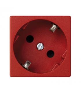Gniazdo wtyczkowe pojedyncze K45 SCHUKO 16A 250V szybkozłącza 45×45mm czerwony K11/6