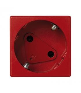 Gniazdo wtyczkowe pojedyncze K45 DATA SCHUKO 16A 250V szybkozłącza 45×45mm czerwony KS11/6