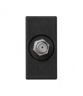 Płytka K45 gniazdo SAT (F) żeńskie 45×22,5mm szary grafit K102C/14