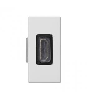 Płytka K45 adapter HDMI-HDMI 45×22,5mm czysta biel K129B/9