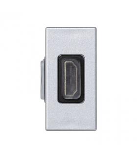 Płytka K45 adapter HDMI-HDMI 45×22,5mm aluminium K129B/8