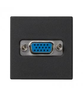 Płytka K45 złącze VGA (D-SUB 15) 45×45mm szary grafit K100B/14