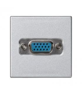 Płytka K45 złącze VGA (D-SUB 15) 45×45mm aluminium K100B/8