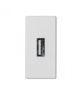 Płytka K45 złącze USB typ A 45×22,5mm czysta biel K128B/9
