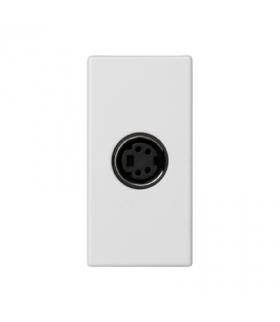 Płytka K45 złącze S-VIDEO 45×22,5mm czysta biel K103B/9