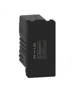 Ładowarka USB K45 USB 2.0 - A 5V DC 2,1A 45×22,5mm grafit K126C/14