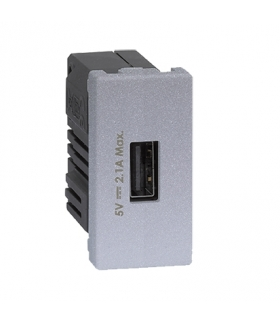 Ładowarka USB K45 USB 2.0 - A 5V DC 2,1A 45×22,5mm aluminium K126D/8
