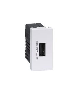 Ładowarka USB K45 USB 2.0 - A 5V DC 2,1A 45×22,5mm czysta biel K126D/9