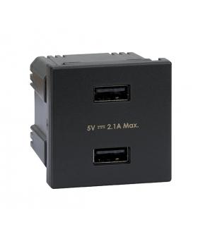 Ładowarka USB K45 USB 2.0 - A 5V DC 2,1A 45×45mm grafit K126E/14