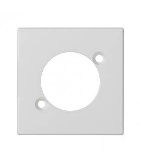 Płytka K45 pusta do złącza XLR 45×45mm czysta biel K122/9