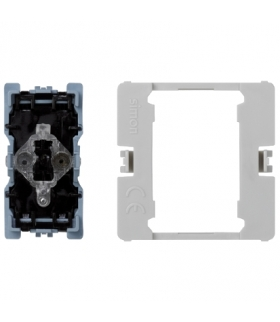 Łącznik uniwersalny (pojedynczy, schodowy) K45 z podświetleniem (mechanizm) 16AX 250V 45×22,5mm K302