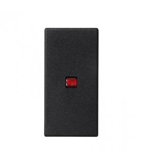 Klawisz K45 z podświetleniem kolor czerwony 45×22,5mm szary grafit K115/14