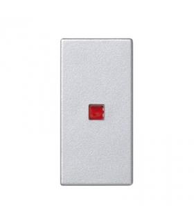 Klawisz K45 z podświetleniem kolor czerwony 45×22,5mm aluminium K115/8