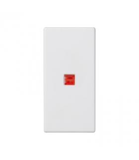 Klawisz K45 z podświetleniem kolor czerwony 45×22,5mm czysta biel K115/9