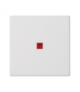 Klawisz K45 z podświetleniem kolor czerwony 45×45mm czysta biel K112/9