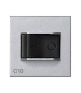 Wyłącznik nadmiarowo-prądowy K45 charakterystyka C 10A 250V 45×45mm aluminium K106A/8