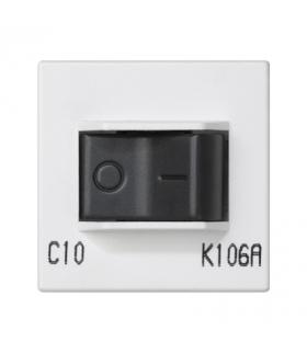 Wyłącznik nadmiarowo-prądowy K45 charakterystyka C 10A 250V 45×45mm czysta biel K106A/9