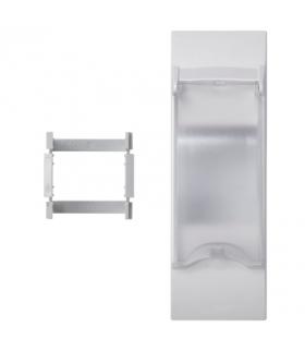 Płytka z pokrywą K45 do OFIBLOK, ALK, CABLOPLUS, CABLOMAX do aparatury 2-polowej 135×45mm czysta biel KF03/9