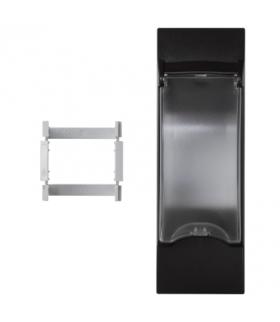 Płytka z pokrywą K45 do OFIBLOK, ALK, CABLOPLUS, CABLOMAX do aparatury 2-polowej 135×45mm szary grafit KF03/14