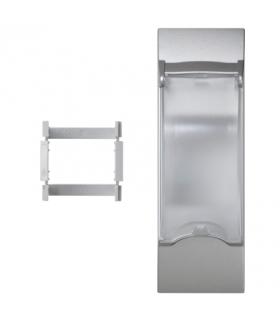 Płytka z pokrywą K45 do OFIBLOK, ALK, CABLOPLUS, CABLOMAX do aparatury 2-polowej 135×45mm aluminium KF03/8