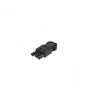 Wtyczka żeńska GESIS® złącze 3-polowe 16A 250V szary grafit CR0003/14