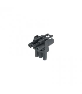 Łącznik T GESIS® złącze 3-polowe 1x męskie, 2x żeńskie 16A 250V szary grafit CR7312/14