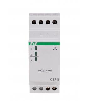 Czujnik zaniku i asymetrii faz, montaż na szynie DIN CZF-B