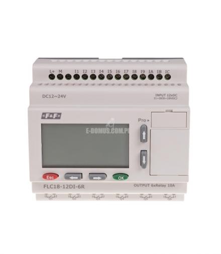 Sterownik programowalny FLC18-12DI-6R